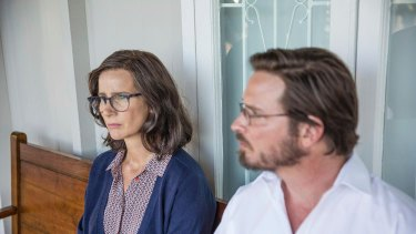 Rachel Griffiths plays Lyndal's psychiatrist and Aden Young is her solicitor.