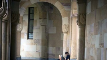 University of Queensland student enjoys quiet time.