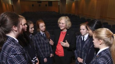 ''I was pretty much a rebellious kid'' ... Elizabeth Blackburn speaks to students at the Garvan Institute about her work as a scientist.