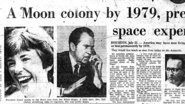 The space expert was not Nixon.