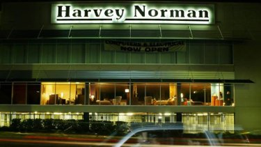 Harvey Norman — fading interest for interest-free offers.