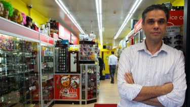 ''One-off'' … Darlinghurst Road tobacconist Ahmed Sabbagh believes security is adequate and in another location he ''would have been robbed 100 times by now''.