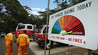 Catastrophic conditions ... RFS volunteers on standby.