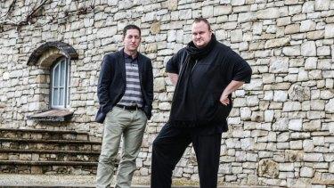 Journalist Glenn Greenwald (left) with NZ Internet Party founder Kim Dotcom.