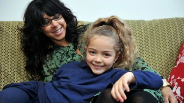 Nathalie Michel with her daughter Leila is thankful to have found a home.