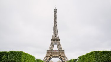The iconic Eiffel Tower.