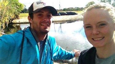 Killed: Christopher Lane with his girlfriend Sarah Harper.