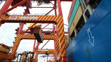 Heavy lifting: Australian ports are wrestling with difficult conditions.