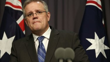 Treasurer Scott Morrison unveiled the company tax cuts in his May budget.