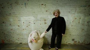 The original authorpreneur Hazel Edwards with the cake-eating hippo.
