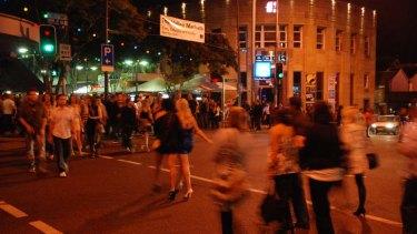 Crowds in Brisbane's Fortitude Valley nightclub and bar precinct