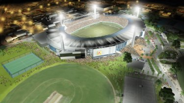 How Geelong's Skilled Stadium might look as part of Australia hosting the 2018 or 2022 World Cups.