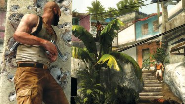 A screenshot from <em>Max Payne 3</em>.