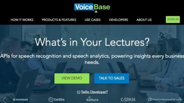 VoiceBase produces one slab of text rather than distinguishing between speakers.