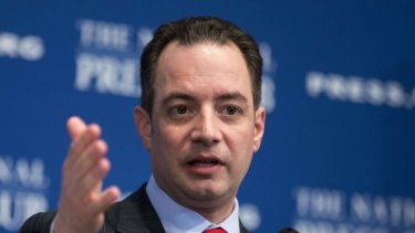 Republican National Committee chairman Reince Priebus speaks at the National Press Club in Washington in March.