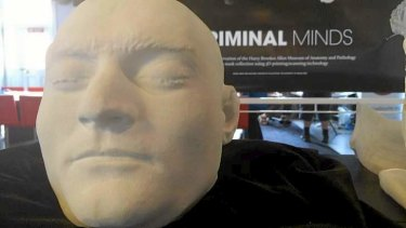 Researchers have printed a 3D replica of Ned Kelly's head, on show at the University of Melbourne 3D showcase earlier this month.