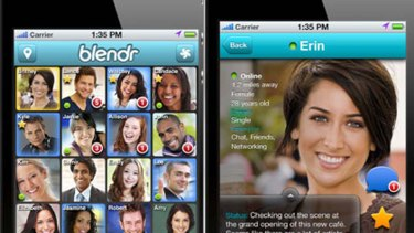 Blendr uses smartphone GPS to connect you with people in your immediate vicinity.