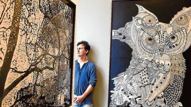 Nature's bounty ... Joshua Yeldham and his work.