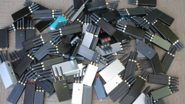The communications regulator says it recently destroyed 100 illegal jamming devices.