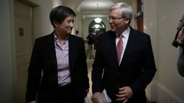 Prime Minister Kevin Rudd and Senator Penny Wong