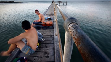 There wasn't a lot of sleep overnight on the St Kilda beach pier.