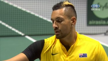 Kyrgios was in cruise control against Belgium in the Davis Cup