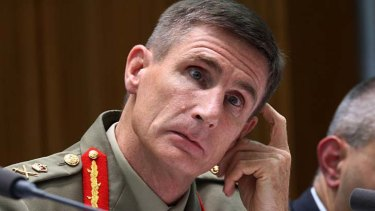 General Angus Campbell said he was offended by Stephen Conroy's comments.