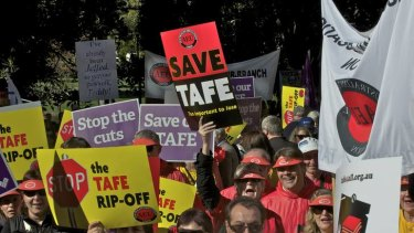 Victorian TAFEs are facing state government funding cuts.