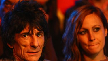 New girlfriend ... Ronnie Wood, pictured with Hannah Kamelmacher.