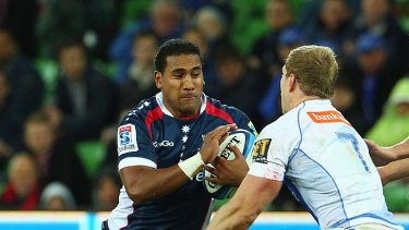 Cooper Vuna has been in tackle-busting form for the Melbourne Rebels.