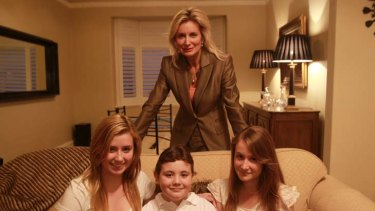 Parental guidance is recommended: the Riddle children (from left) Charlotte, Oliver and Georgina with their mother Sharon Williams, CEO of Taurus Marketing.