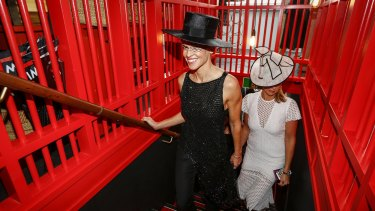 Hilary Swank at Victoria Derby Day