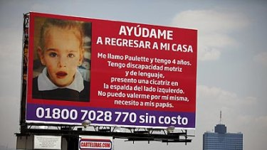 One of the billboards appealing for help to find Paulette.