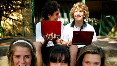 Students at Warners Bay High School in NSW and not mentioned in this article receive their laptops in 2009.