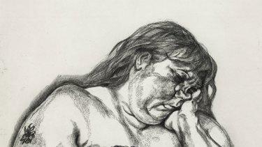 Lucian Freud's <em>Woman with an Arm Tattoo</em>.