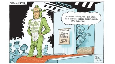 Canberra Times Editorial cartoon.