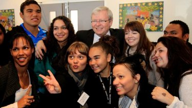 'Most of my friends are younger folk' said Mr Rudd.