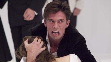 Toby Schmitz in Hamlet at Belvoir