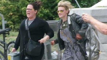A spectre calls ... if Melissa McCarthy and Kate McKinnon look like they've seen a ghost, that's because they have.