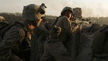 No peace prizes here: US marines fight Taliban forces in Helmand.
