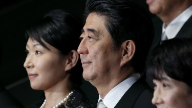 Mixed record: Shinzo Abe in September appointed five women to his Cabinet, the largest number on record. Yet the majority belonged to the socially conservative wing of his party, which opposes many feminist causes.