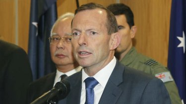 Breakthrough in military relations: Prime Minister Tony Abbott.