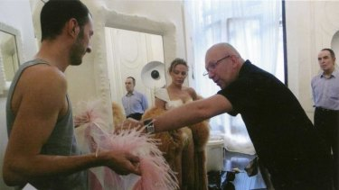 Perfect partnership: Kylie Minogue and Jean Paul Gaultier during a fitting session at Maison Jean Paul Gaultier, Paris 2009.
