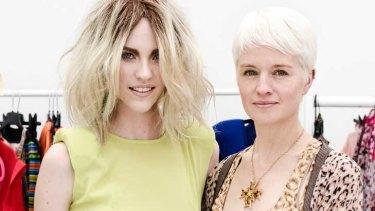 Face of the 2012 Perth Fashion Festival Nicole Pollard with Perth-raised creative campaign director Michelle Jank.