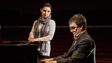KEY APPEARANCES: Elina Akselrud, of Ukraine, and Maciej Wota, of Poland,  are competing at the International Chopin Piano Competition hosted by ANU's School of Music.