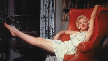 Marilyn Monroe on the set of <em>The Seven Year Itch</em>.