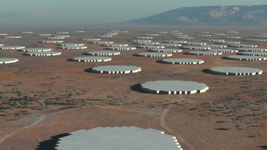 The future: the Square Kilometre Array will be the largest and most capable radio telescope ever made.