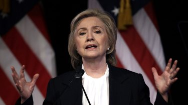 Democratic presidential candidate Hillary Clinton at a campaign event in New York on Monday.