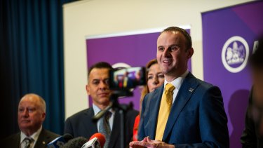 Chief Minister Andrew Barr: A festival of finance.