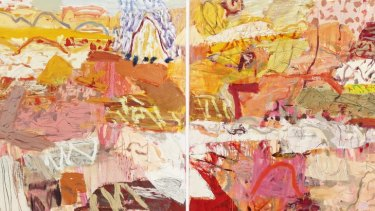 Elemental landscapes ...  Cummings's recent works reject an earlier striving for a spurious harmony in favour of discords, jagged lines and loosely brushed areas of colour that refuse to let the eye settle.  <i>At the Edge of the Simpson Desert</i>(2011).  <i>The Blue Pear</i> (2011).
